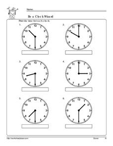 Be a Clock Wizard Worksheet