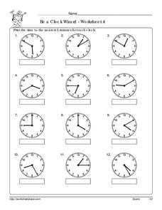 Be a Clock Wizard - Worksheet 4 Worksheet