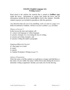 Writing Lesson: Descriptive Paragraph Lesson Plan