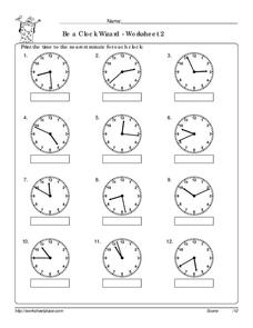 Be a Clock Wizard 2 Worksheet