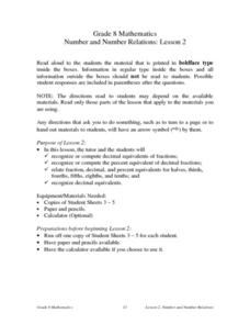 Number and Number Relations: Lesson 2 Lesson Plan