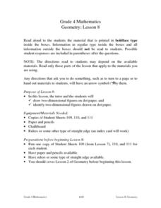Geometry:  Two-Dimensional Figures Lesson Plan