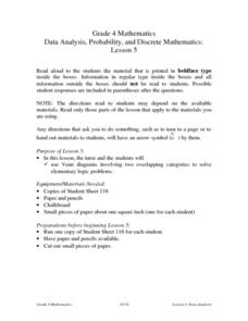Data Analysis, Probability, and Discrete Mathematics: Lesson 5 Venn Diagrams Lesson Plan