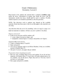 Geometry: Lesson 6: Shapes Lesson Plan