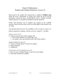 Number And Number Relations Lesson Plan