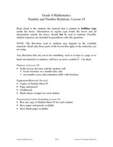 Number and Number Relations: Lesson 19 Lesson Plan