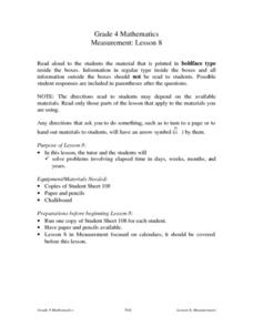 Measurement: Lesson 8 Lesson Plan
