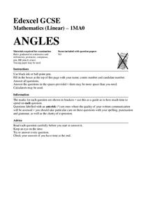 Angles in Triangles and Quadrilaterals Assessment