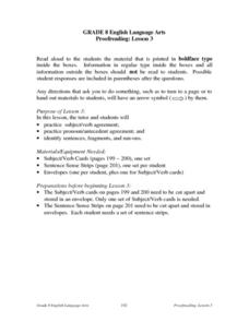 Proofreading: Lesson 3 Lesson Plan