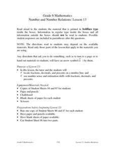 Number and Number Relations: Lesson 13 Lesson Plan