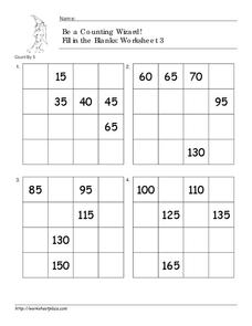Be a Counting Wizard! Worksheet 3 Worksheet
