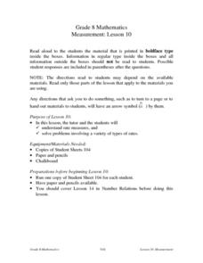 Measurement: Lesson 10 Rate Lesson Plan
