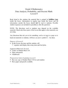 Data Analysis, Probability, and Discrete Math: Lesson 8 Lesson Plan