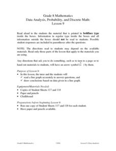 Data Analysis, Probability, and Discrete Math:  Line Graphs Lesson Plan