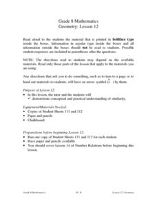 Geometry: Lesson 12 Lesson Plan