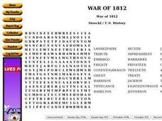 The War of 1812 5th - 7th Grade Worksheet | Lesson Planet