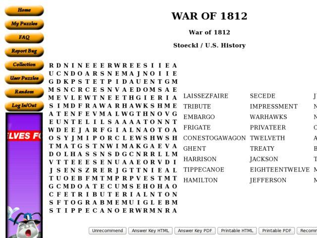 The War of 1812 5th 7th Grade Worksheet – War of 1812 Worksheet