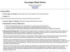 Scavenger Hunt Poster Lesson Plan