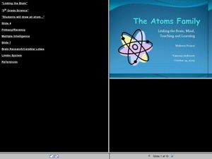 The Atoms Family Lesson Plan