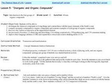 Inorganic and Organic Compounds Lesson Plan