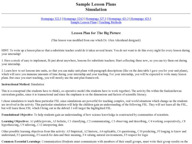 The Big Picture: Scientific Competition Lesson Plan