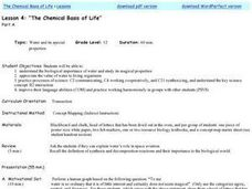The Chemical Basis of Life Lesson Plan