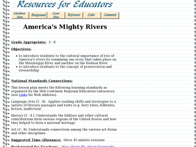 America's Mighty Rivers Lesson Plan