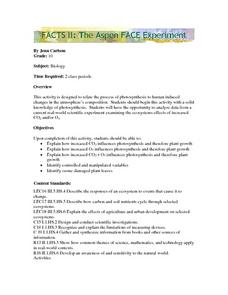 Facts II: The Aspen FACE Experiment Lesson Plan
