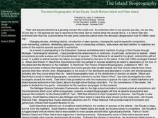 The Island Biogeography of Isle Royale, South Manitou Island and Pelee Island Lesson Plan