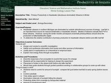Primary Productivity in Headwater (deciduous Dominated) Streams in Winter Lesson Plan