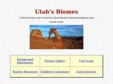 Utah's Biomes Lesson Plan