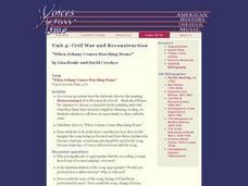 Civil War and Reconstruction: When Johnny Comes Marching Home Lesson Plan