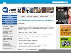 Life Reflections in Songwriting and Poetry Lesson Plan