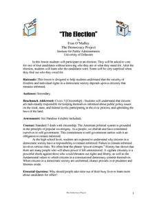 """The Election"" Lesson Plan"