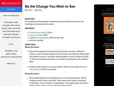 Be the Change You Wish to See Lesson Plan