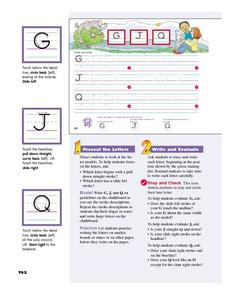 The Letters G, J, and Q Lesson Plan