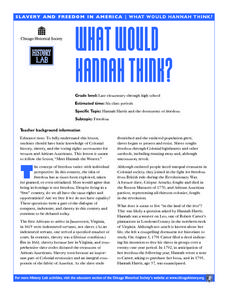 What Would Hannah Think? Lesson Plan