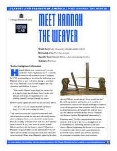 Meet Hannah the Weaver Lesson Plan