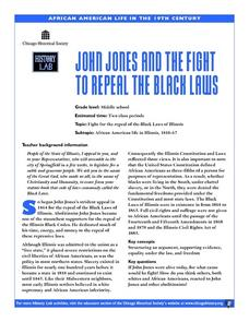 John Jones and the Fight to Repeal the Black Laws Lesson Plan