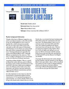 Living Under the Illinois Black Codes Lesson Plan