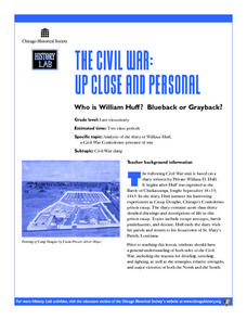 The Civil War: Up Close and Personal Lesson Plan