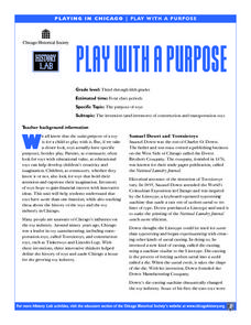 Play With a Purpose Lesson Plan