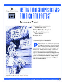 Cartoons and Protest Lesson Plan