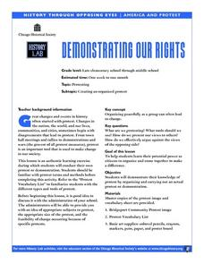 Demonstrating Our Rights Lesson Plan