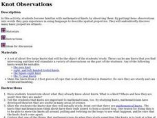 Math: Knot Observations Lesson Plan