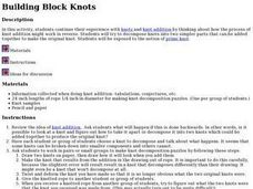 Building Block Knots Lesson Plan