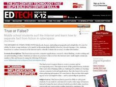 True or False?: Internet Evaluation Lesson Plan