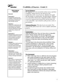 Credibility of Sources Lesson Plan
