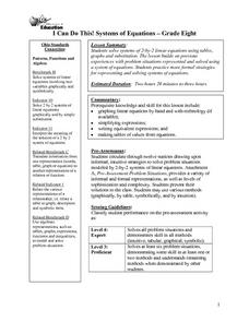 I Can Do This!  Systems of Equations Lesson Plan