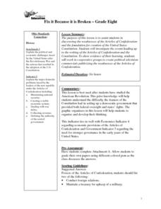 The Articles of Confederation Lesson Plan